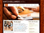Web Site for Hatch Billiards